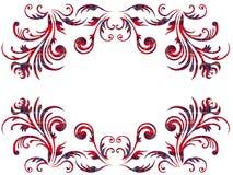 Blom- beståndsdelar med den keltiska prydnaden över vit Royaltyfri Bild