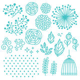 Blom- beståndsdeluppsättning vektor illustrationer