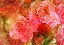 blom- bild stylized tappning Royaltyfria Bilder