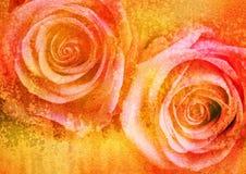 blom- bild stylized tappning Arkivbilder