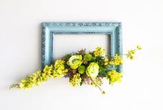 Blom- bildram Royaltyfria Foton