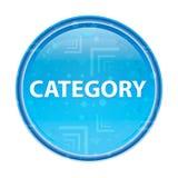 Blom- blå rund knapp för kategori vektor illustrationer