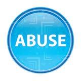 Blom- blå rund knapp för missbruk vektor illustrationer
