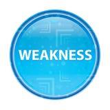 Blom- blå rund knapp för svaghet stock illustrationer