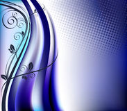 blom- blåa element för bakgrund vektor illustrationer