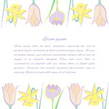 blom- blommafjäder för bakgrund vektor illustrationer