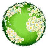 Blom- blommajordklotbegrepp Arkivfoto