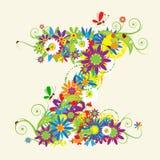 blom- bokstav z för design
