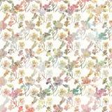 Blom- botanisk vårbakgrund för tappning i mjuka pastellfärgade färger royaltyfri illustrationer