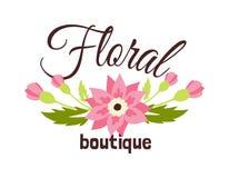 Blom- boutiqueillustration Vektor Illustrationer