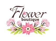 Blom- boutiqueillustration Stock Illustrationer