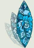 blom- brädedesign Royaltyfri Foto