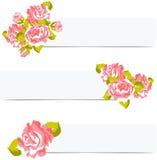 Blom- bröllopbakgrund med rosor stock illustrationer