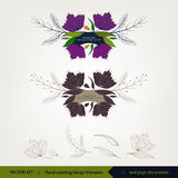 Blom- bröllopdesign och beståndsdelar Arkivbild