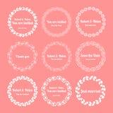 Blom- bröllopkransar Royaltyfria Bilder
