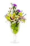Blom- bukett av orchids, ro och nejlikaordningscente Arkivbild