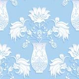 Blom- bukett för sömlös modell i vas Royaltyfri Bild