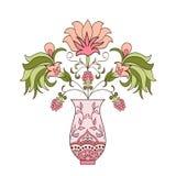 Blom- bukett i vas Arkivbilder