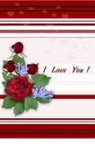 Blom- bukett på den randiga vita röda bakgrunden Royaltyfri Foto