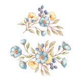 Blom- buketter för tappning Arkivfoton