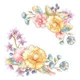 Blom- buketter för tappning Arkivbild
