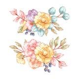 Blom- buketter för tappning Royaltyfri Bild