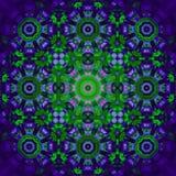 Blom- centrerat violett suddigt för prydnadlilagräsplan stock illustrationer