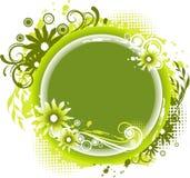 Blom- cirkelask Arkivfoto