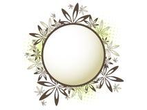 Blom- cirkelinbjudan Royaltyfri Bild