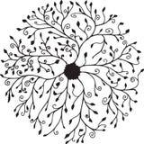 Blom- cirkelmandala arkivbild