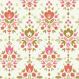 Blom- damast sömlös modellbakgrund Royaltyfria Bilder