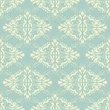 Blom- damast sömlöst snör åt modellen Sömlös barock tapet för tappning Royaltyfria Foton
