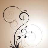 blom- dekorativ design Royaltyfri Foto
