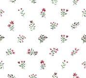 Blom- dekorativ modell för vattenfärg Royaltyfria Bilder