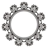 Blom- dekorativ rund ram Royaltyfri Fotografi