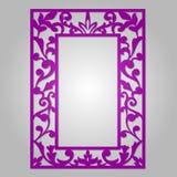 Blom- dekorativ utklipppanel för vektor för laser-klipp royaltyfri illustrationer