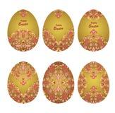 Blom- dekorativa ägg Arkivfoton