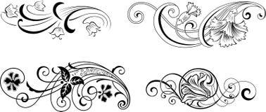 blom- dekorativt vektor illustrationer