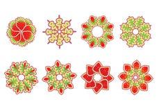 blom- dekorativt för element vektor illustrationer