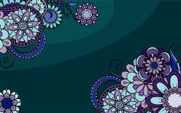 Blom- dekorativt för kortet för kafé, royaltyfri illustrationer