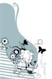 blom- design Vektor Illustrationer