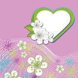 Blom- design för att gifta sig mallen. Vårblommor, Stock Illustrationer