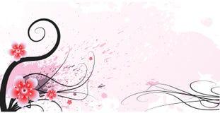 Blom- design för Grunge royaltyfria foton