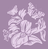 Blom- design för iris Royaltyfri Foto
