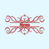 Blom- design för kalligrafimonogram, tappningmodelllogo Royaltyfri Foto