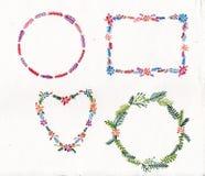 Blom- design för packeramakvarell Royaltyfria Bilder
