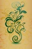 Blom- design för tappning Royaltyfria Bilder