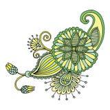 Blom- design för broderi Royaltyfri Bild