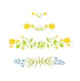 Blom- design - vektorillustration Arkivbilder