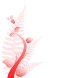 Blom- designbakgrund Arkivbilder